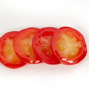 Plastic tomato slices