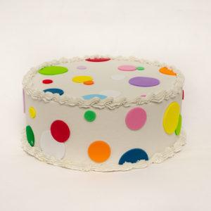 Fake Polka-Dot Cake