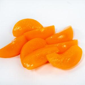 Fake peach slices