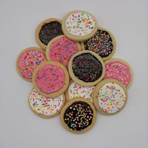 12 Frosted Sugar Cookies with Sprinkles