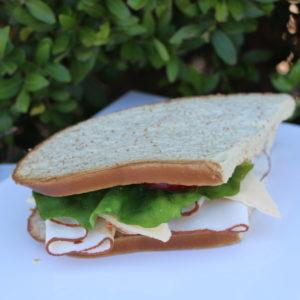 fake turkey sandwich