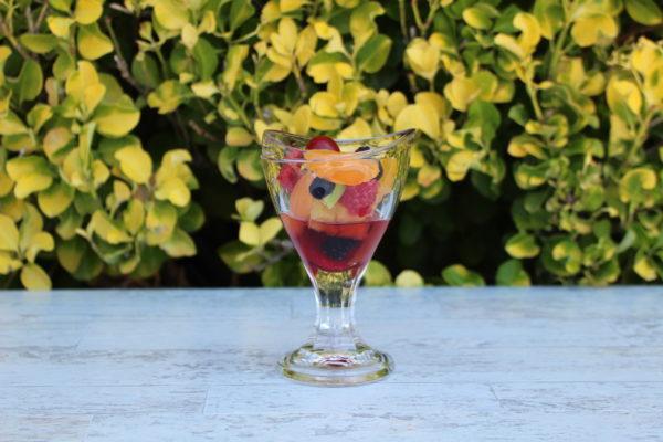 Fake fruit cocktail glass