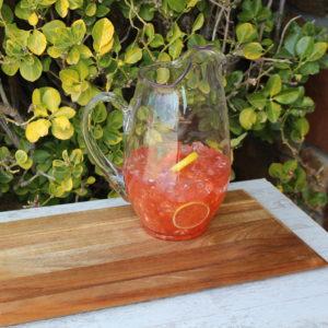 Fake Strawberry Lemonade Pitcher
