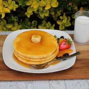 Fake Pancakes with Fruit