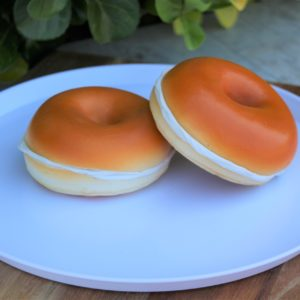 Fake Bagel with Cream Cheese