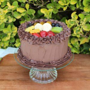 SML CHOCOLATE CAKE WITH FRUIT 323