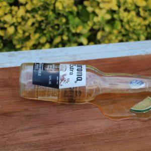 Spilled Corona Bottle