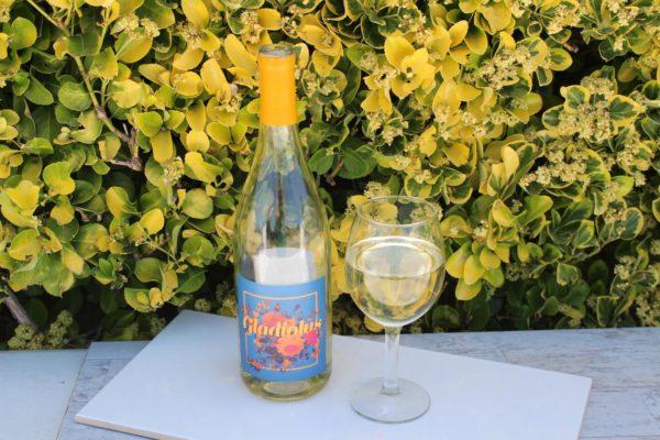 Filled Fake Bottle of White Wine